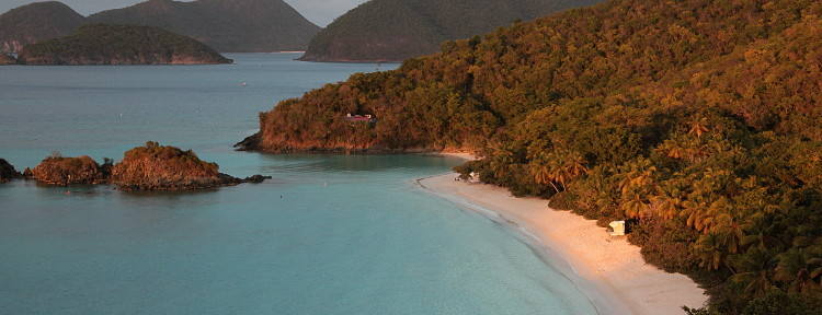 Reverse Sunset: Trunk Bay