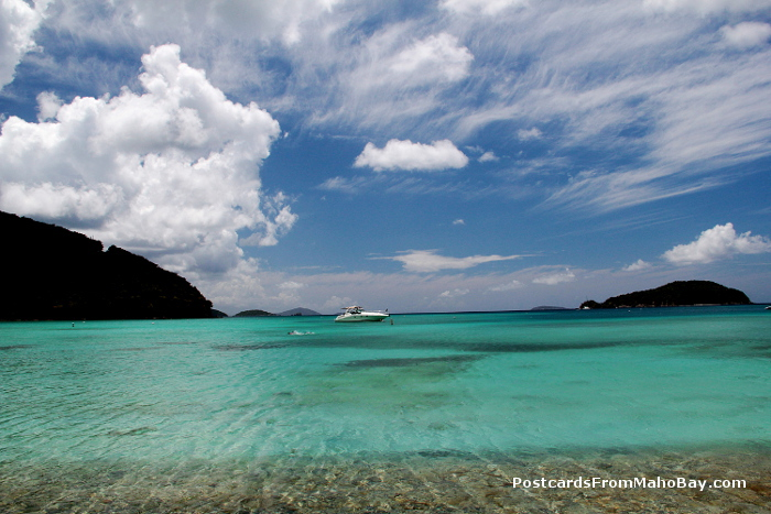 The captivating blues of the water and sky at Big Maho Bay, St. John, USVI in early August.