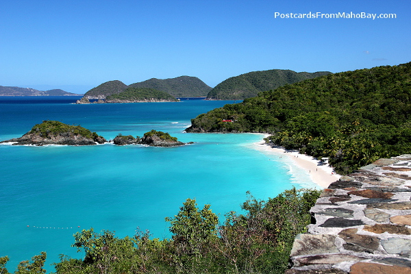 View from Trunk Bay Overlook, part of the Virgin Islands National Park on St. John.