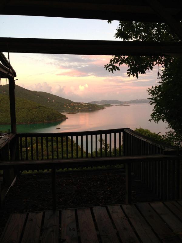 Morning sunrise from Maho Bay Camp.