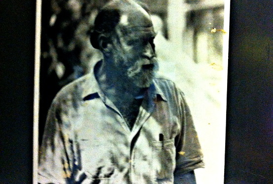 An early photo of Stanley that we kept posted in the office. I believe it was of him at Maho Bay Camp. Not sure of the date.
